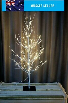 100cm White Birch Twig Branch Tree 64 LED Light Warm White Lamp Indoor/Outdoor