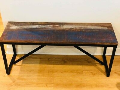 Incredible Vintage Dining Bench Industrial Style Hallway Seat Solid Andrewgaddart Wooden Chair Designs For Living Room Andrewgaddartcom