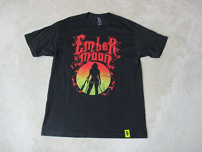 WWE Ember Moon Shirt Adult Large Black Red WWF NXT Wrestler Wrestling Mens