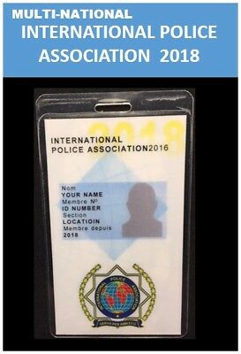 Intern'l ID collection Multi-National vertical card <int'l police assoc 2018>>