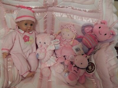 Baby Girl Misc. Toys-All Pink.each Plays Music, Moves, Rattles, Lights, Or Coos