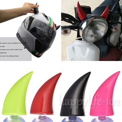 Muti-colors Motorcycle Rubber Cool Accessories Suction Cups Helmet Horns Decor