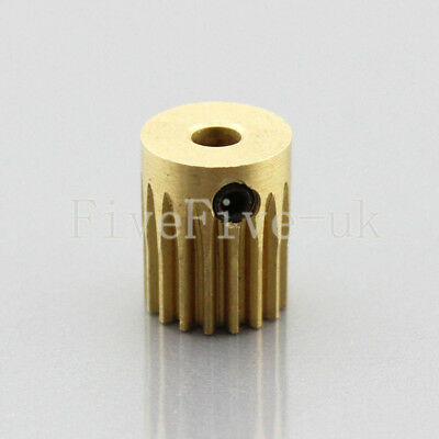 0.5M16T 5mm Bore Hole 16 Teeth Width 12mm Module 0.5  Motor Metal Spur Gear