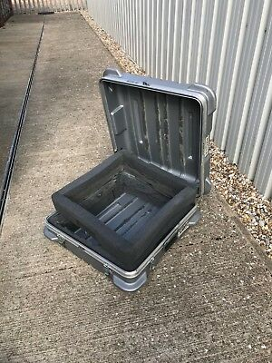 used plastic flight case in reasonable condition