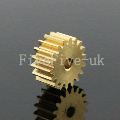 0.5M16T 2mm Bore Hole 16 Teeth Width 5mm Module 0.5  Motor Metal Spur Gear