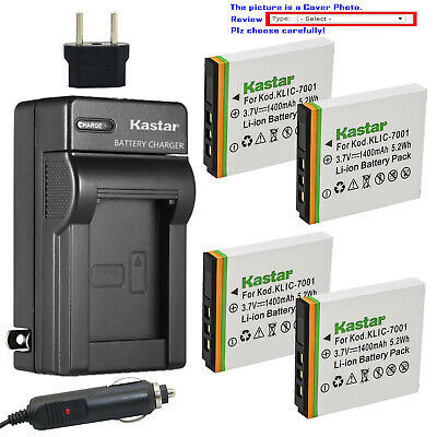 Kastar Battery AC Charger for Kodak KLIC-7001 & Kodak EasyShare M341 Camera