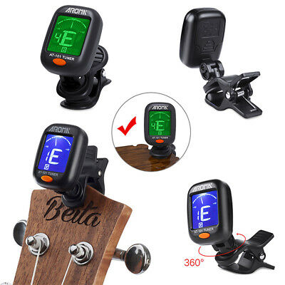 ELECTRIC BASS GUITAR TUNER LCD CLIP ON CHROMATIC ACOUSTIC ELECTRIC UKULELE Cello