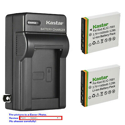 Kastar Battery Wall Charger for KLIC-7001 K7001 & ROLLEI CL200 CL-200 Camera
