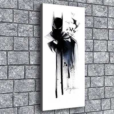 "12""x24""Batman Watercolor HD Canvas Print Painting Home Room Decor Picture Wall"