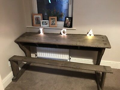 Childrens Desk - Antique Triple Desk