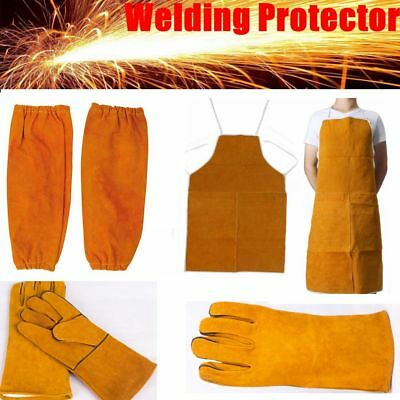 Leather Welder Welding Protective Gear Apron Sleeve Glove Gauntlet Dress Clothes