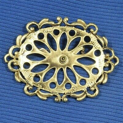 Gold Plated Brooch with China Cab Blank 54mm x 43mm, High Temp Paint or Decal