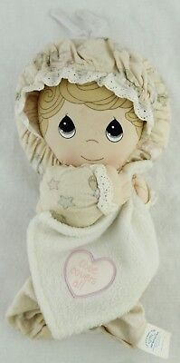 Precious Moments Girl Doll LOVE COVERS ALL Musical Crib Pull String Plush Toy
