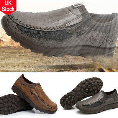 Men Leather Casual Loafers Fashion Moccasins Slip on Driving Shoes UK Size 5-11
