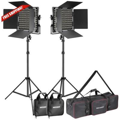 Neewer 2 Pack 660 LED Video Light & Stand Video Photography Studio Lighting Kit