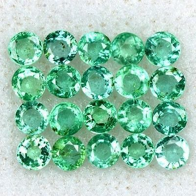 1.84 Cts Natural Top Green Emerald Round Cut Lot Zambia Size 2.5 upto 3 mm Loose