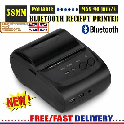 90MM POS Bluetooth Wireless Receipt Thermal Printer Compatible for IOS Android