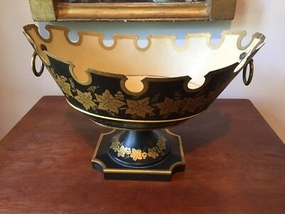 French Tole 20th Century Large Footed Monteith Compote Bowl