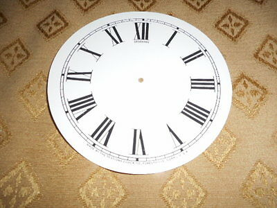 For American Clocks-Round Sessions Paper Clock Dial-125mm M/T-Roman-Parts/Spares