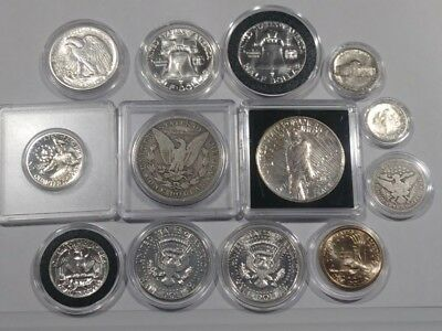 Collection Mostly 90% Silver Morgan-peace-Frank-Walker-Barber-List Below-Lot14A