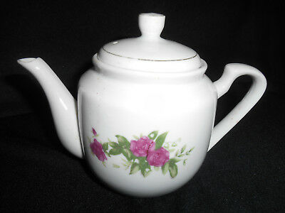 "chinese famille rose flower blossom pattern porcelain small 4 1/2"" teapot"