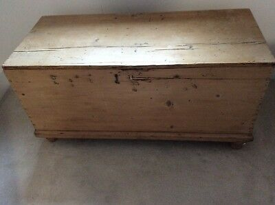 Antique Pine Bedding Chest / Ottoman