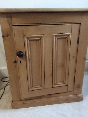 Antique Pine Bedside Cabinet / Chest