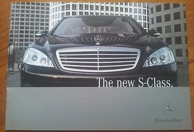 2005 MERCEDES S CLASS BROCHURE Early New Shape 10 Pages Very Rare Small Format'
