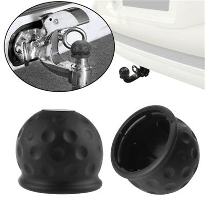Tow Bar Ball Cover Cap Car Truck Tow Hitch Trailer Towball Towbar Protect Rubber