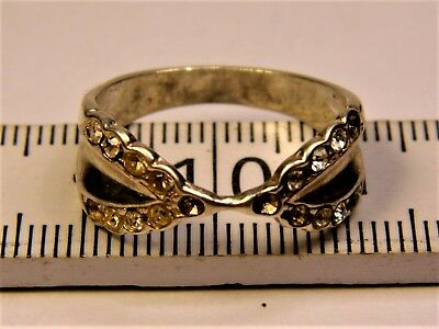 Old vintage retro antique Sterling Silver 925 ring with stones authentic 40s
