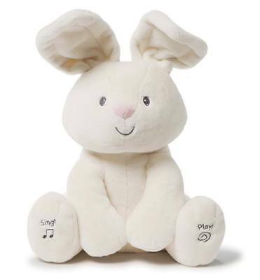 Flora Bunny Animated Plush Toy Sings & Plays Peek-a-boo Singing Talking Rabbit