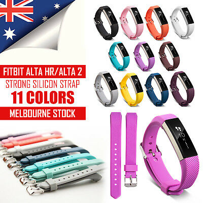 New Replacement Silicone Wrist Band Secure Buckle for Fitbit Alta HR / Alta 2