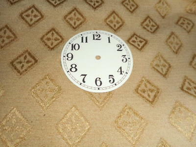 "Round Paper Clock Dial-2 1/2"" M/T-Arabic-Gloss Cream-Face/ Clock Parts/Spares"