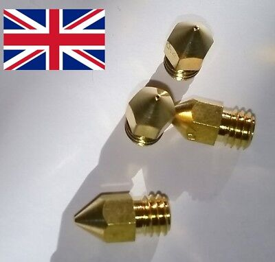 0.4mm Mk8 Nozzle for for 3d Printer . for Anet Creality and Others Pack of 4