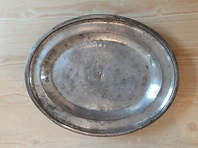 Very Old Silver Hotel Platter Tray