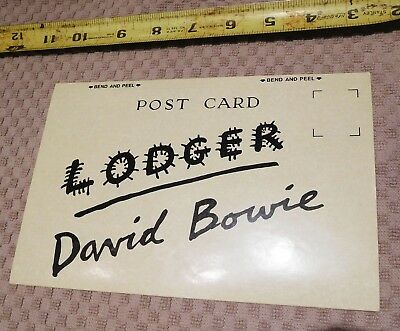 "DAVID BOWIE ""Lodger"" 1979 ORIG US PROMO STICKER (RCA Records) - VERY RARE, NICE!"