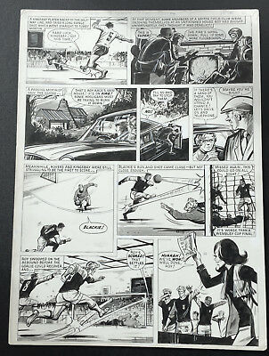 Roy of the Rovers original comic artwork from Tiger July 1971 Yvonne Hutton art