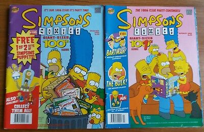 Simpsons Comics giant sized 100th and 101th issue December 2004