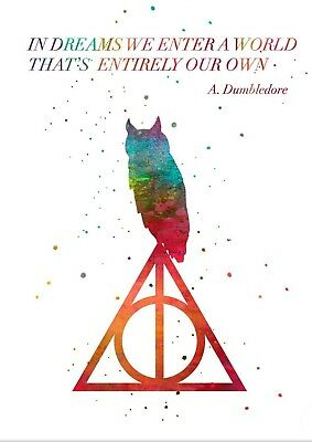 Harry Potter Dumbledore Quote Watercolour Wall Art Poster Print A3, A4, A5