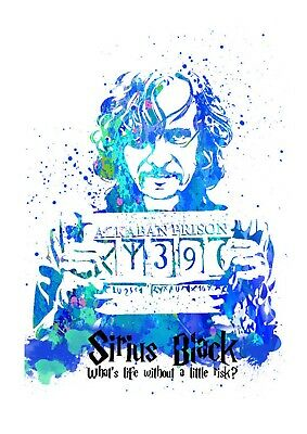 Harry Potter Sirius Black Quote Watercolour Wall Art Poster Print A3, A4, A5