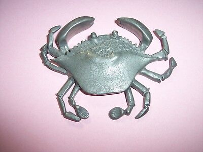 "Vintage kirk pewter maryland blue crab Paper Weight Figurine 3""w nautical"