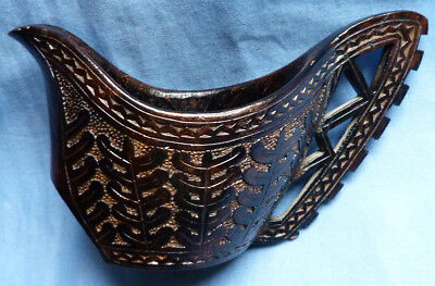 Rare C.1900 Imperial Russian Wooden Kovsch Carved Drinking Vessel