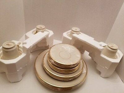 Lenox Eternal LOT OF FOUR 5-Piece Place Setting (20 Pieces)   Vintage Never Used