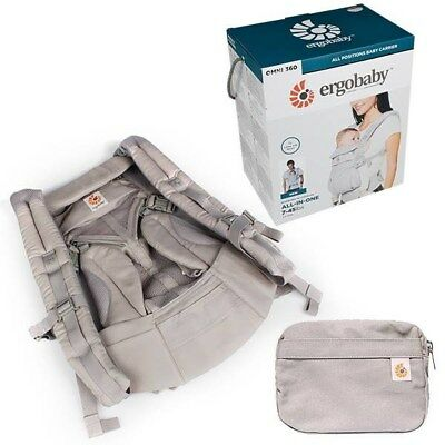 Ergo Baby OMNI 360 Cool Air Mesh Newborn Infant Toddler Baby Carrier Pearl Grey