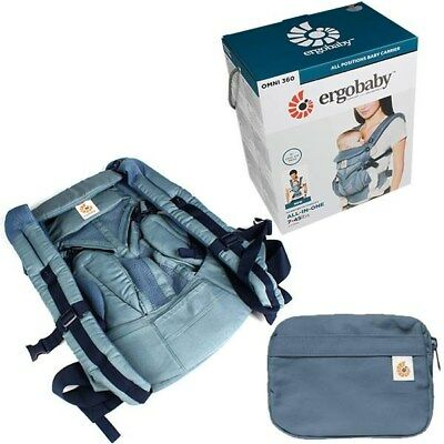 ed5079bf38b Ergo Baby OMNI 360 Cool Air Mesh Newborn Infant Toddler Baby Carrier Oxford  Blue