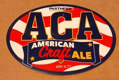 Beer pump clip badge front PARTNERS brewery ACA - American Craft Ale cask Yorks