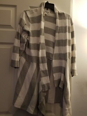 fcf7515e99d JCPENNEY ST JOHNS Bay white grey striped cowlneck top womens plus 1X ...