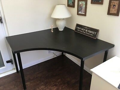 Black Corner Office Table 120cm x 120cm- Good Condition