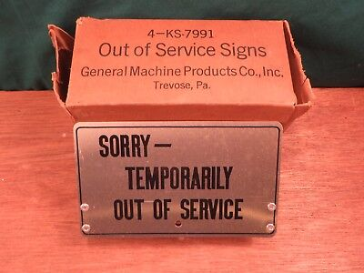 """Original Vintage BELL SYSTEM - Metal Sign """"SORRY - TEMPORARILY OUT OF SERVICE"""""""