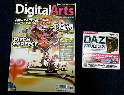 Digital Arts Magazine W/ CD AUGUST 2009 ABSTRACT ART PITCH PERFECT KILLER PRINTS